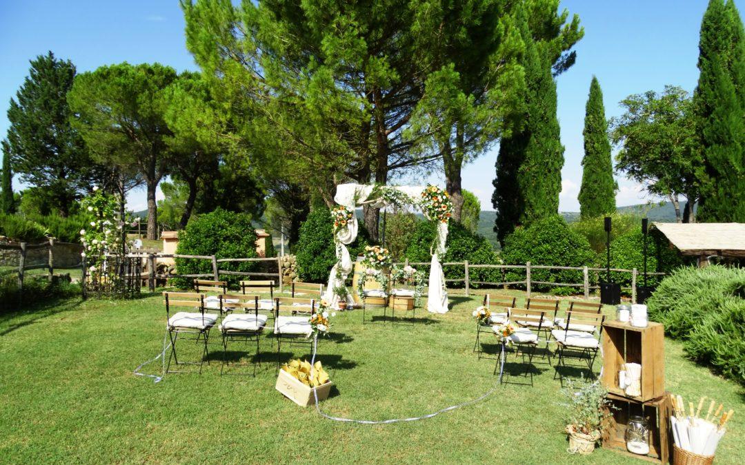 Toskanafeeling pur – eine kleine freie Trauung in der Toskana