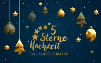 5-Sterne Hochzeit wünscht frohe Weihnachten