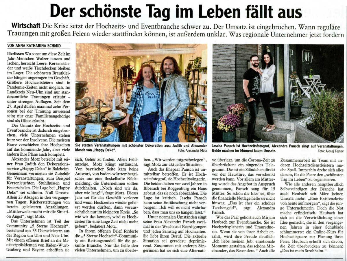 JAP-Fotografie Happy Deko Alexandra Pansch Illertisser Zeitung Freudenfeuer